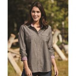 Weatherproof W154885 Women's Vintage Chambray Long Sleeve Shirt