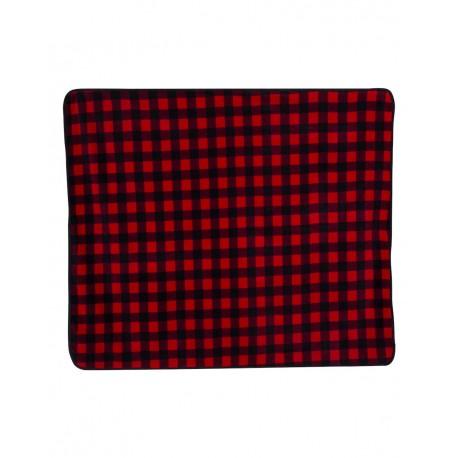 8702 Alpine Fleece 8702 Polyester/Nylon Patterned Picnic Blanket Red Buffalo