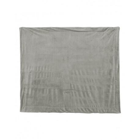 8712 Alpine Fleece 8712 Micro Mink Sherpa Blanket GREY