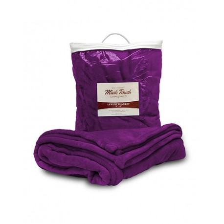 8721 Alpine Fleece 8721 Mink Touch Luxury Blanket PLUM