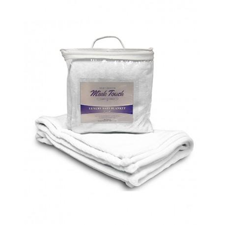 8722 Alpine Fleece 8722 Mink Touch Luxury Baby Blanket Pure White