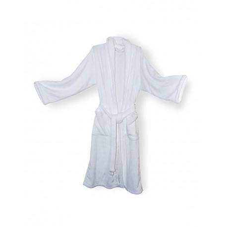 8723 Alpine Fleece 8723 Mink Touch Luxury Robe WHITE