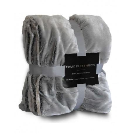 8730 Alpine Fleece 8730 Faux Fur Throw GREY