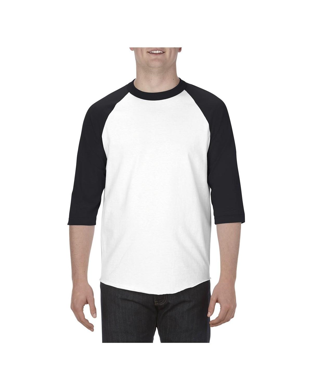 1334 Alstyle WHITE/ BLACK