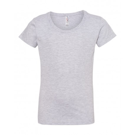 3362 ALSTYLE 3362 Girls' Ultimate T-Shirt ATHLETIC HEATHER
