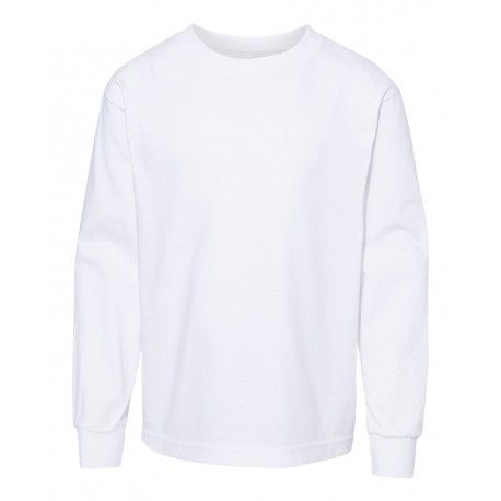 3384 ALSTYLE 3384 Youth Classic Long Sleeve T-Shirt WHITE
