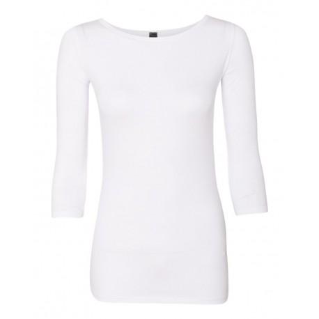 2455L Anvil 2455L Women's Stretch Three-Quarter Sleeve T-Shirt WHITE