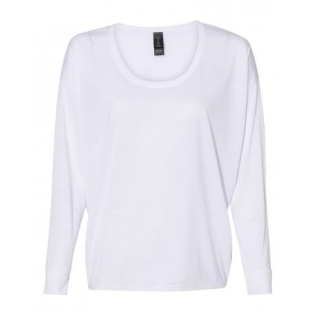 34PVL Anvil 34PVL Women's Freedom Long Sleeve T-Shirt WHITE