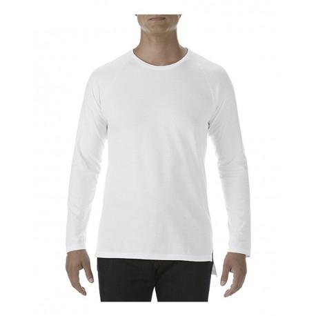 5628 Anvil 5628 Long Sleeve Lightweight Long and Lean Raglan T-Shirt WHITE