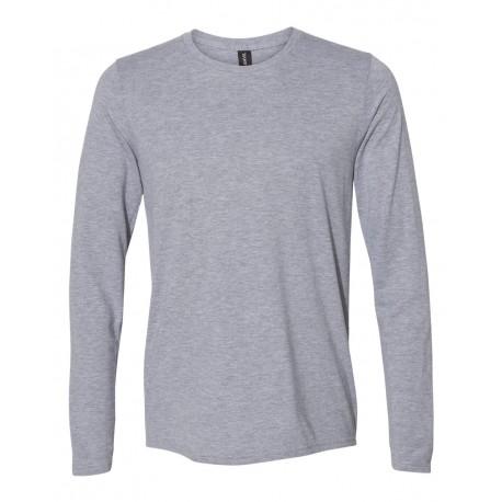 6740 Anvil 6740 Triblend Long Sleeve T-Shirt HEATHER GREY