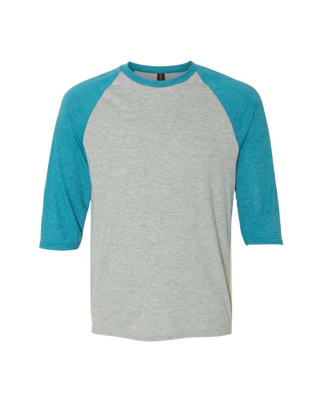 6755 Anvil Heather Grey/ Heather Galapagos Blue