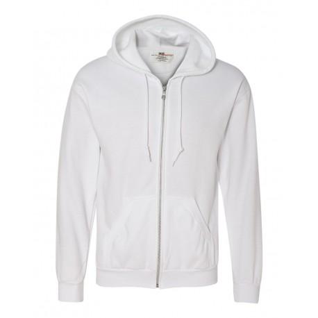 71600 Anvil 71600 Full-Zip Hooded Sweatshirt WHITE
