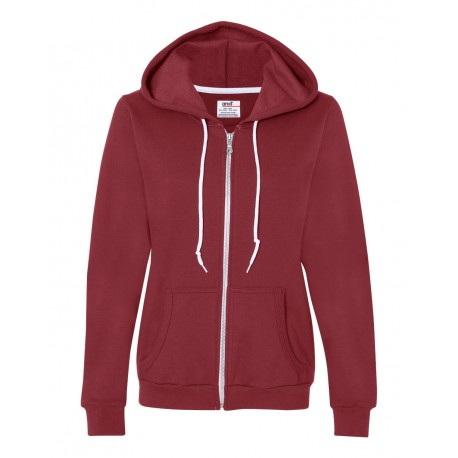 71600FL Anvil 71600FL Women's Full-Zip Hooded Sweatshirt INDEPENDENCE RED