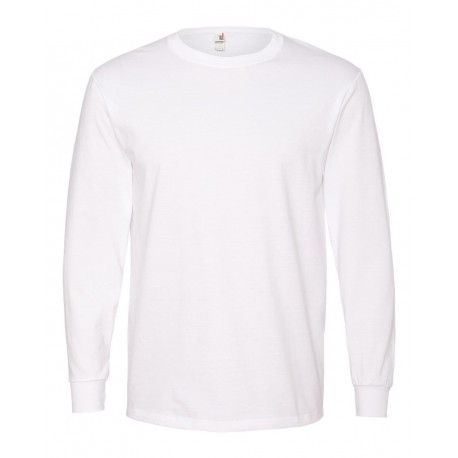 784 Anvil 784 Midweight Long Sleeve T-Shirt WHITE