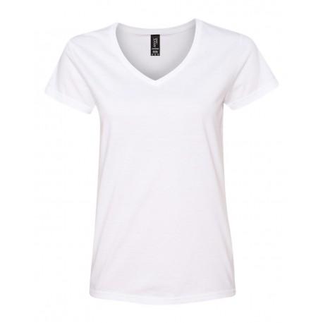 88VL Anvil 88VL Women's Lightweight V-Neck T-Shirt WHITE