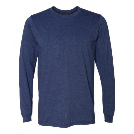 949 Anvil 949 Lightweight Long Sleeve T-Shirt HEATHER BLUE