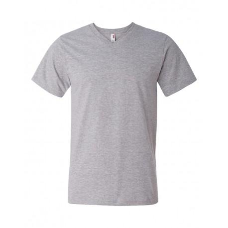 982 Anvil 982 Lightweight V-Neck T-Shirt HEATHER GREY