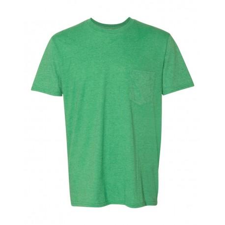 983 Anvil 983 Lightweight Pocket T-Shirt HEATHER GREEN
