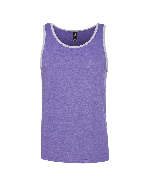 986 Anvil Heather Purple/ Heather Grey