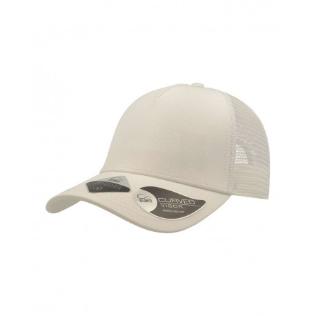 RARE Atlantis Headwear RARE Rapper Recycled Sustainable Trucker Cap White/ White (Bianco/ Bianco)