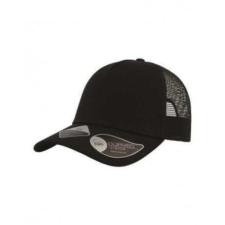 RARE Atlantis Headwear RARE Rapper Recycled Sustainable Trucker Cap Black/ Black (Nero/ Nero)