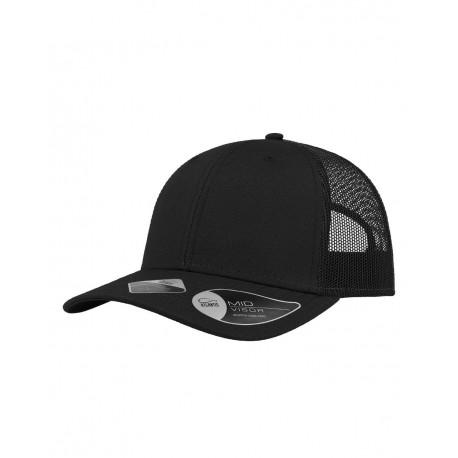 RETH Atlantis Headwear RETH Sustainable Recy Three Trucker Cap Black/ Black (Nero/ Nero)