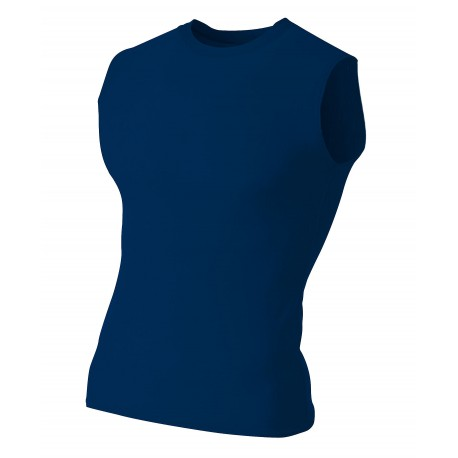 A4N2306 A4 A4N2306 Adult Compression Sleeveless Tee NAVY