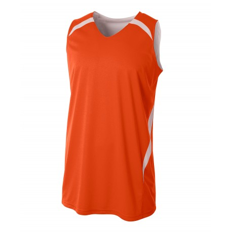 A4N2372 A4 A4N2372 Adult Double Double Reversible Jersey ORANGE/WHITE