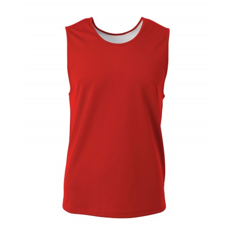 A4N2382 A4 A4N2382 Adult Reversible Basketball Jersey SCARLET/SILVER