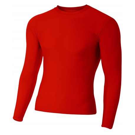 A4N3133 A4 A4N3133 Adult Long Sleeve Compression Tee SCARLET