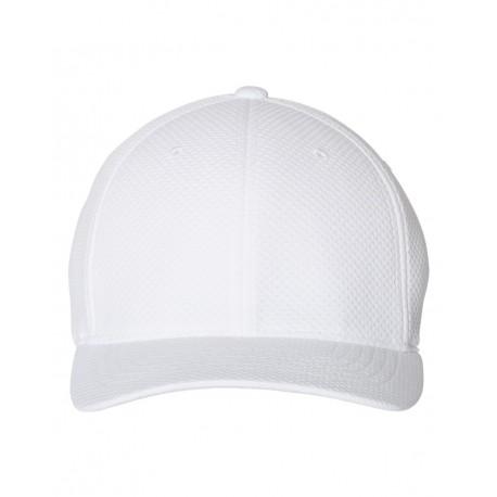 6584 Flexfit 6584 3D Hexagon Stretch Jersey Cap WHITE