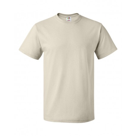 3930R Fruit of the Loom 3930R HD Cotton Short Sleeve T-Shirt NATURAL