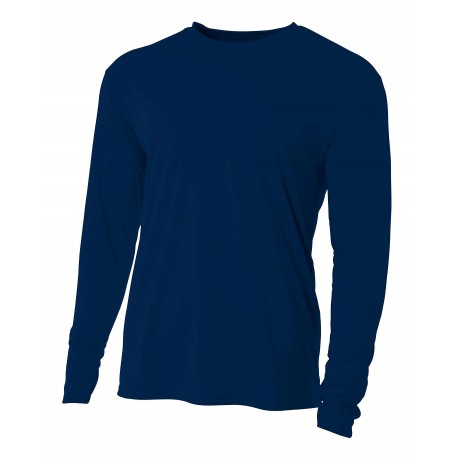 A4N3165 A4 A4N3165 Cooling Performance Long Sleeve Tee NAVY
