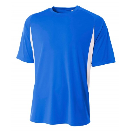 A4N3181 A4 A4N3181 Adult Cooling Performance Color Block Tee ROYAL/WHITE