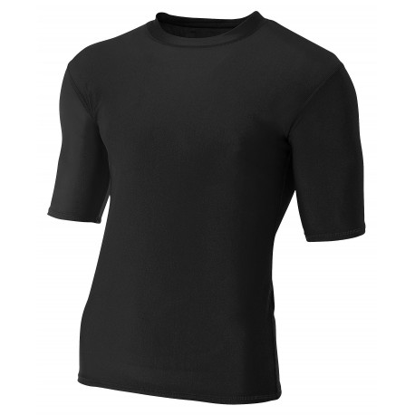 A4N3283 A4 A4N3283 Adult 1/2 Sleeve Compression Jersey BLACK