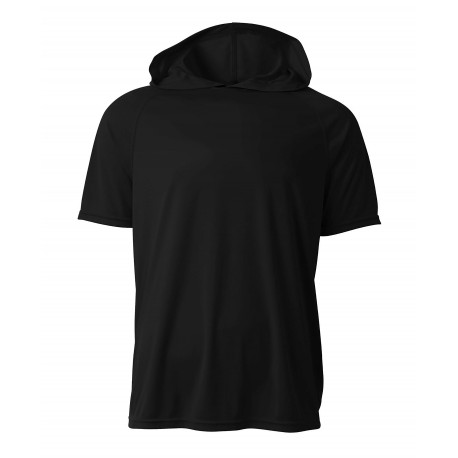 A4N3408 A4 A4N3408 Adult Cooling Performance Hooded Tee BLACK