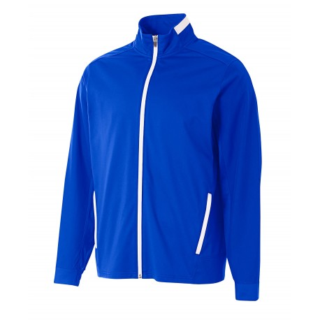 A4N4261 A4 A4N4261 Adult League Full Zip Warm Up Jacket ROYAL/WHITE