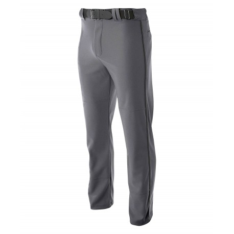 A4N6162 A4 A4N6162 Adult Pro Style Open Bottom Baggy Baseball Pant GRAPHITE