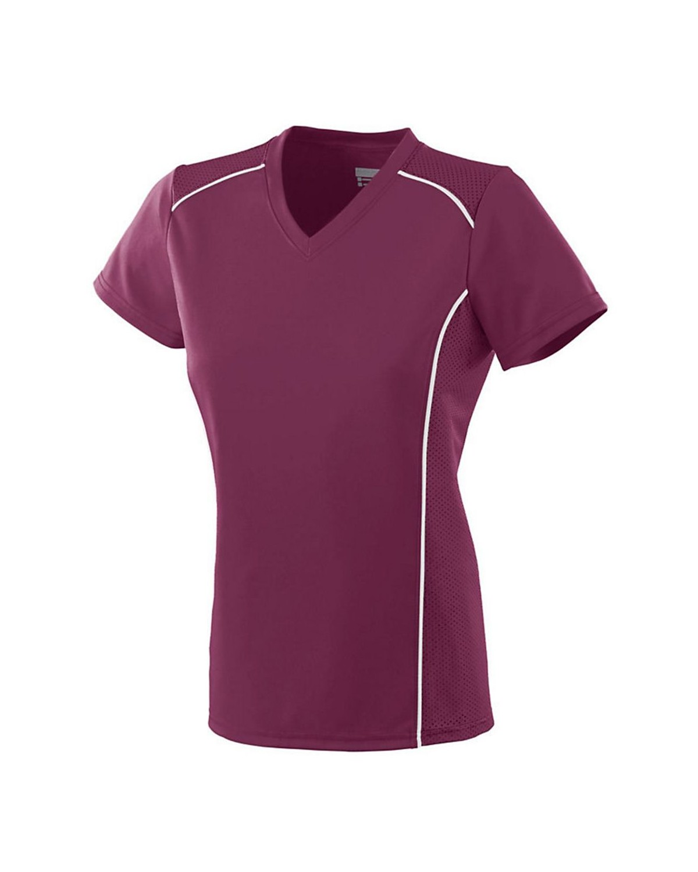 1092 Augusta Sportswear MAROON/ WHITE