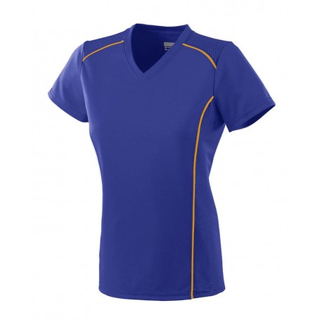 1092 Augusta Sportswear 1092 Women's Winning Streak Jersey Purple/ Gold