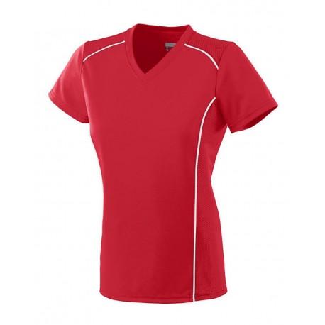 1092 Augusta Sportswear 1092 Women's Winning Streak Jersey RED/ WHITE