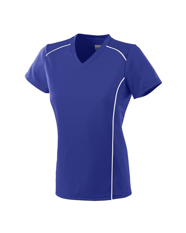 1093 Augusta Sportswear PURPLE/ WHITE