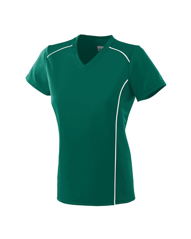 1093 Augusta Sportswear Dark Green/ White