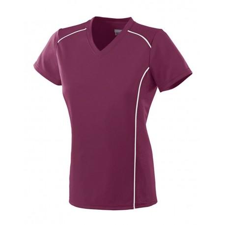 1093 Augusta Sportswear 1093 Girls' Winning Streak Jersey MAROON/ WHITE