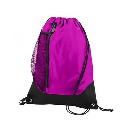 1149 Augusta Sportswear 1149 Tres Drawstring Backpack Power Pink/ Black
