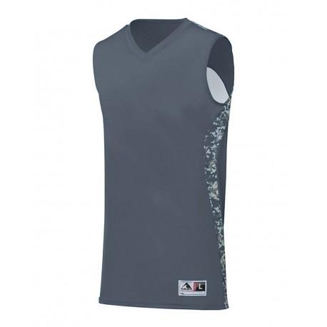 1161 Augusta Sportswear 1161 Hook Shot Reversible Jersey Graphite/ White Digi
