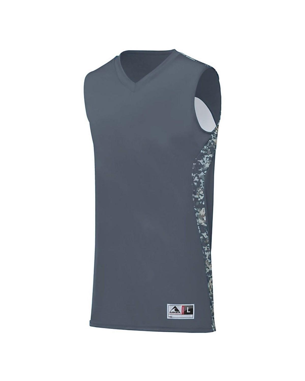 1161 Augusta Sportswear Graphite/ White Digi