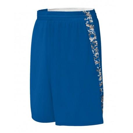 1163 Augusta Sportswear 1163 Hook Shot Reversible Shorts Royal/ Royal Digi
