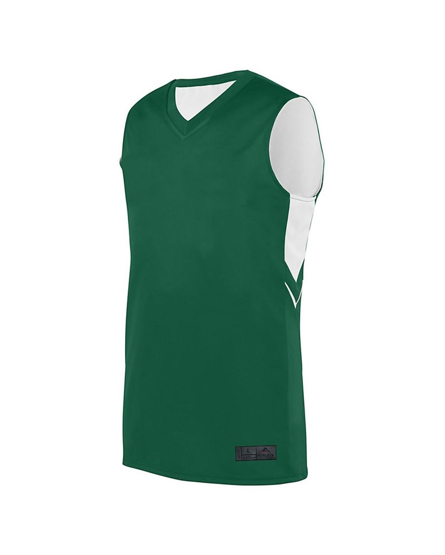 1166 Augusta Sportswear Dark Green/ White