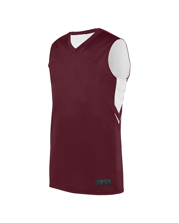 1166 Augusta Sportswear MAROON/ WHITE